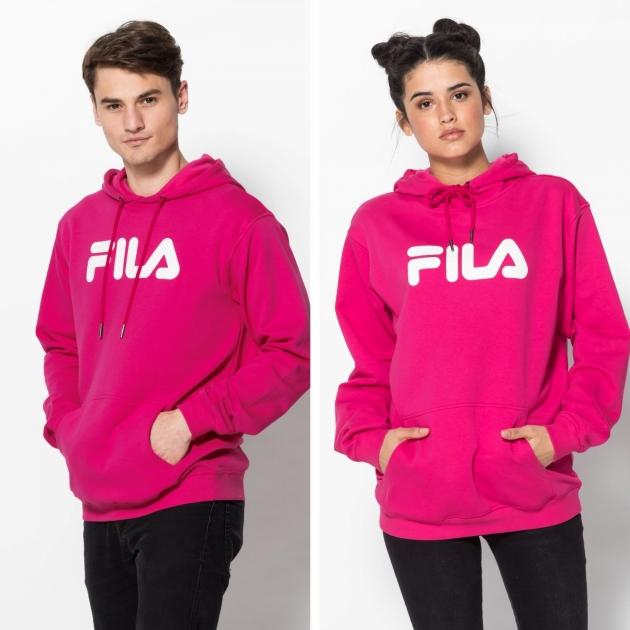 Fila Classic Pure Hoody Kangaroo pink-yarrow