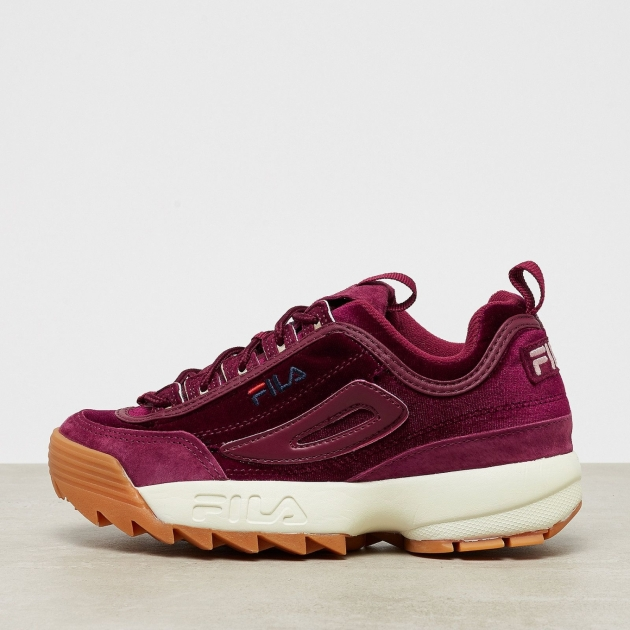 Fila Disruptor Low Velvet Wmn burgundy red