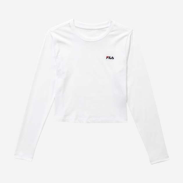 Fila Eaven Cropped Long Sleeve Shirt white