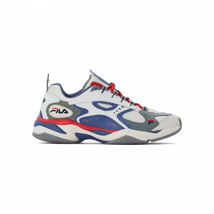 Fila BOVEASORUS Womens Grey Blue Red Athletic Sneaker Shoes