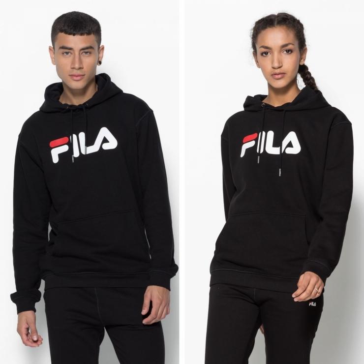 Fila Classic Pure Hoody Kangaroo black schwarz | FILA Official