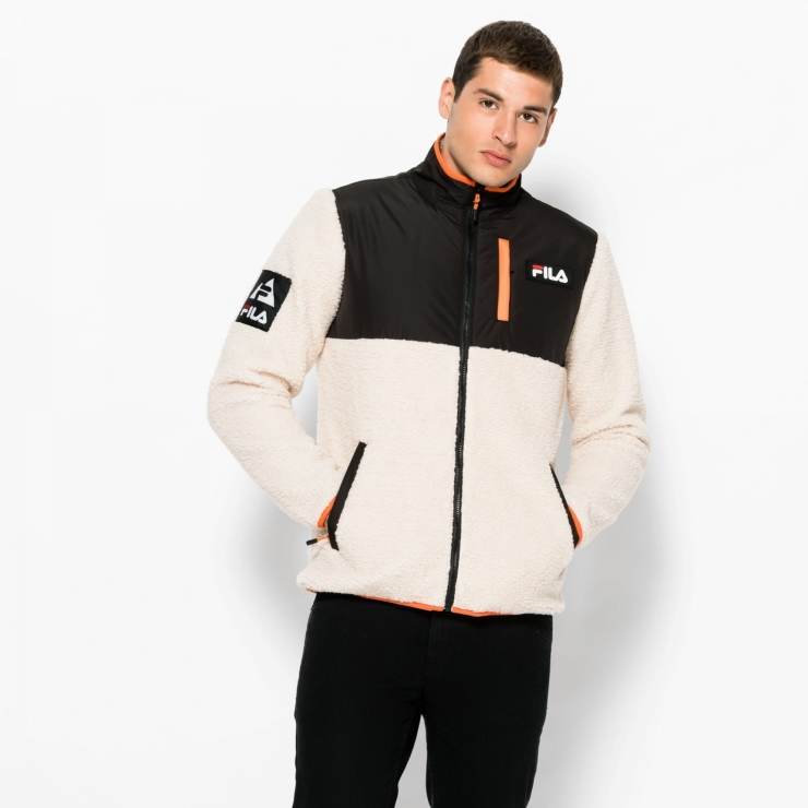 Fila Hadi Fleece Jacket beige creme | FILA Official