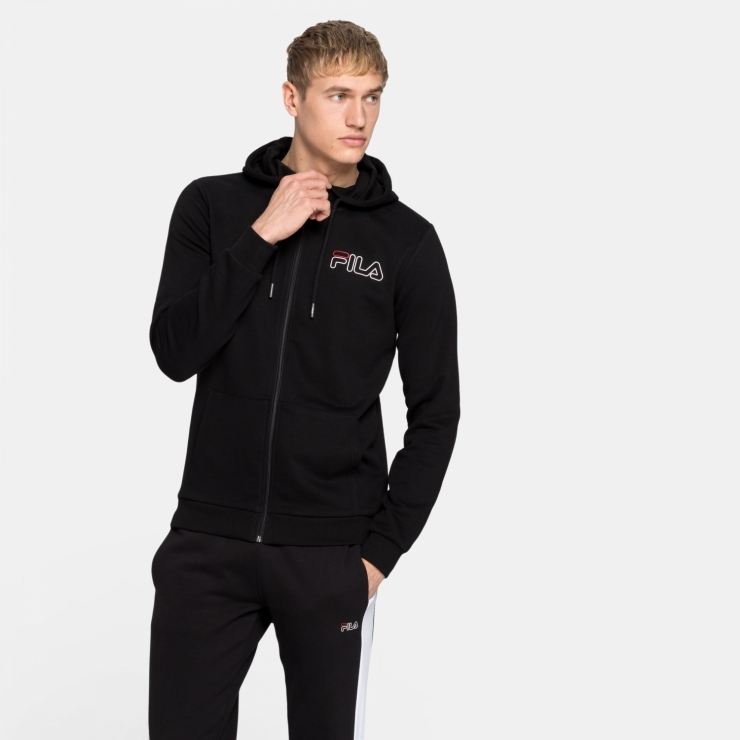 Fila Mick Hoody Jacket black black | FILA Official