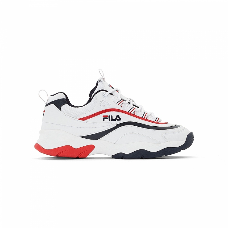 Fila Ray F Low Men white-navy-red - red