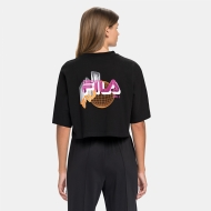 Fila Anemore Cropped Wide Tee black Bild 2