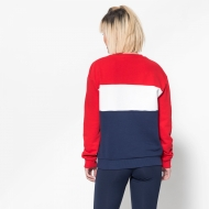 Fila Leah Crew Sweat black-iris-red-white Bild 2