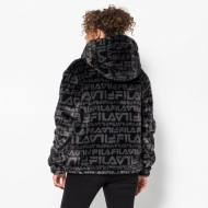 Fila Margot Hooded Fur Jacket Bild 2