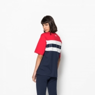Fila Shannon Tee black-iris-red-white Bild 2