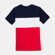 Fila Teens Classic Day Blocked Tee black-iris-red Bild 2