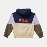 Fila Teens Tilli Blocked Hooded Anorak cream-purple-olive Bild 2