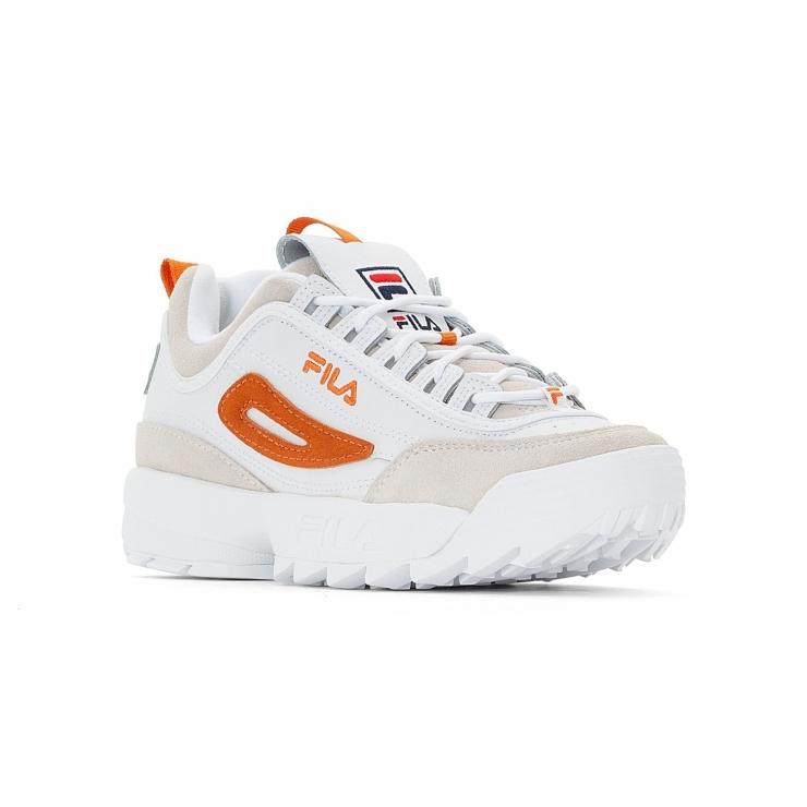 Fila Disruptor Low Wmn white-orange
