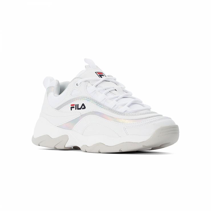 Fila Ray M Low Wmn white-silver - white