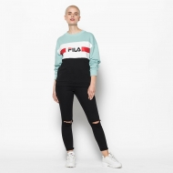 Fila Angela Crew Sweat 2.0 akquifer-white-black Bild 3