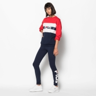 Fila Angela Crew Sweat 2.0 red-black-iris-white Bild 3