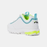 Fila Disruptor Logo Low Wmn white-neon-lime Bild 3