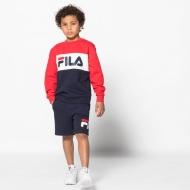 Fila Kids Night Blocked Crew black-iris-red Bild 3