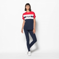 Fila Shannon Tee black-iris-red-white Bild 3