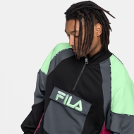Fila Gia Oversized Half Zip black-turbulence-green-sangria Bild 4