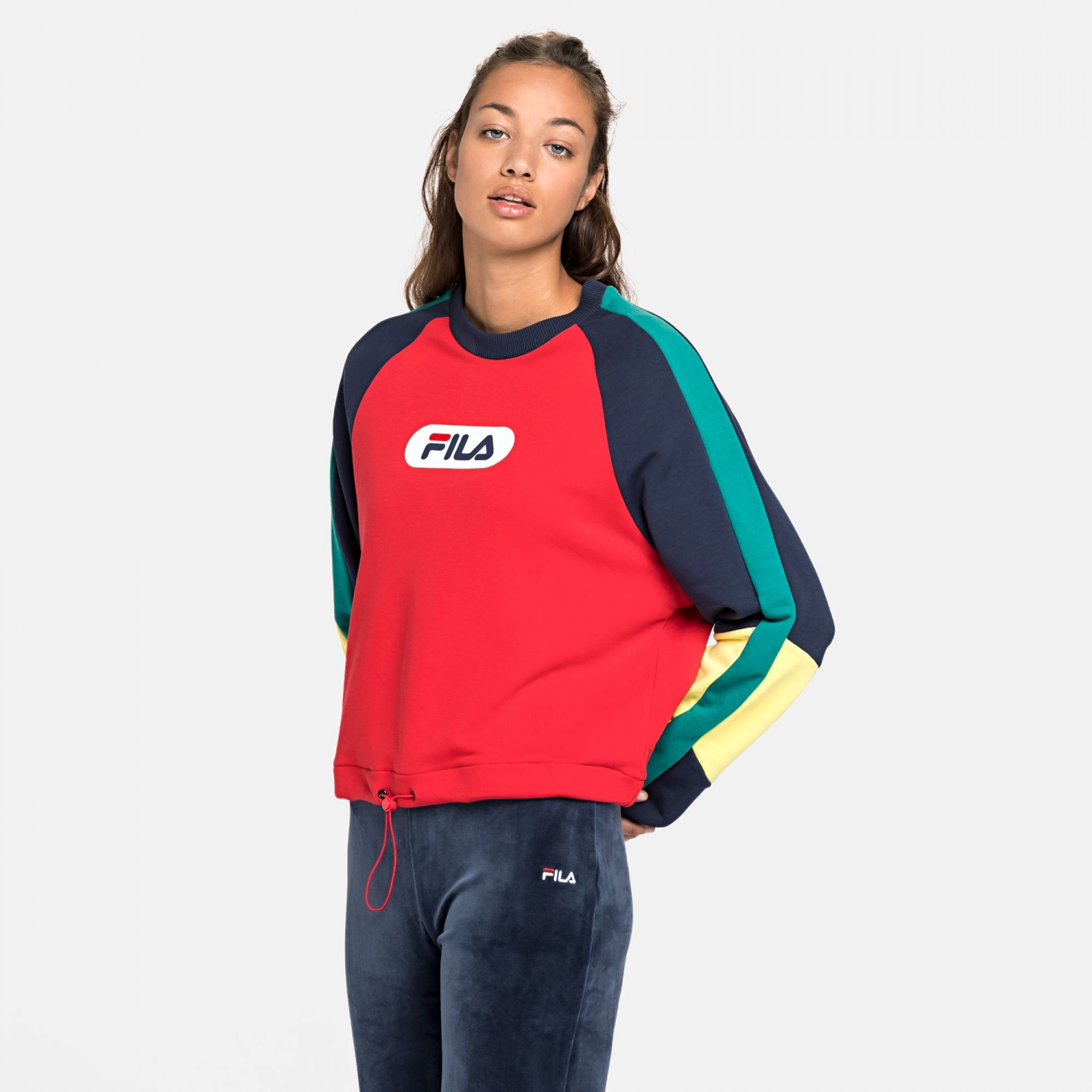 Fila Bane Blocked Crewsweat red Bild 1