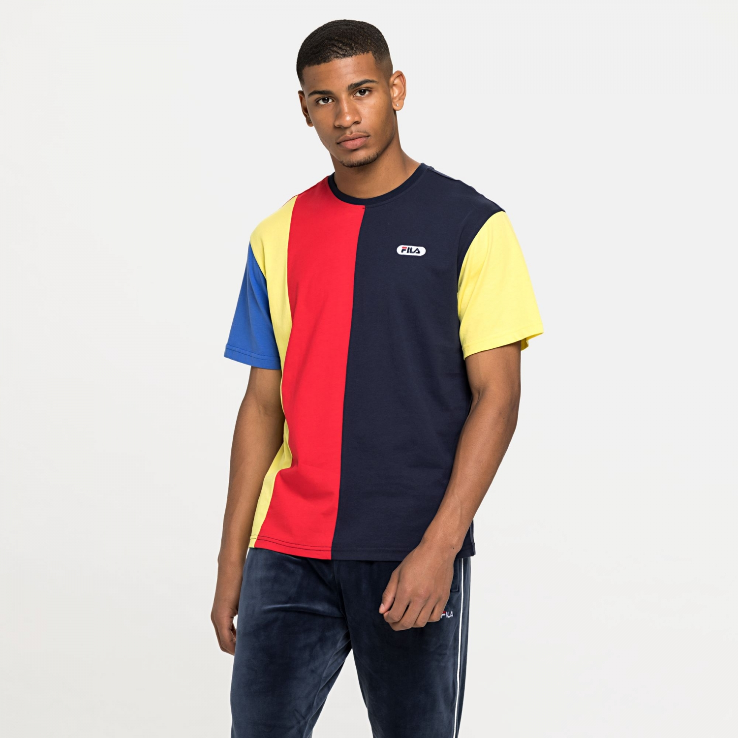 Fila Bansi Blocked Tee blue-red-yellow Bild 1