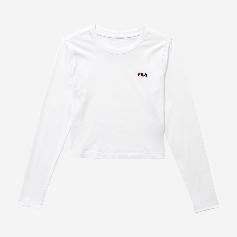 Fila Eaven Cropped Long Sleeve Shirt white Bild 1