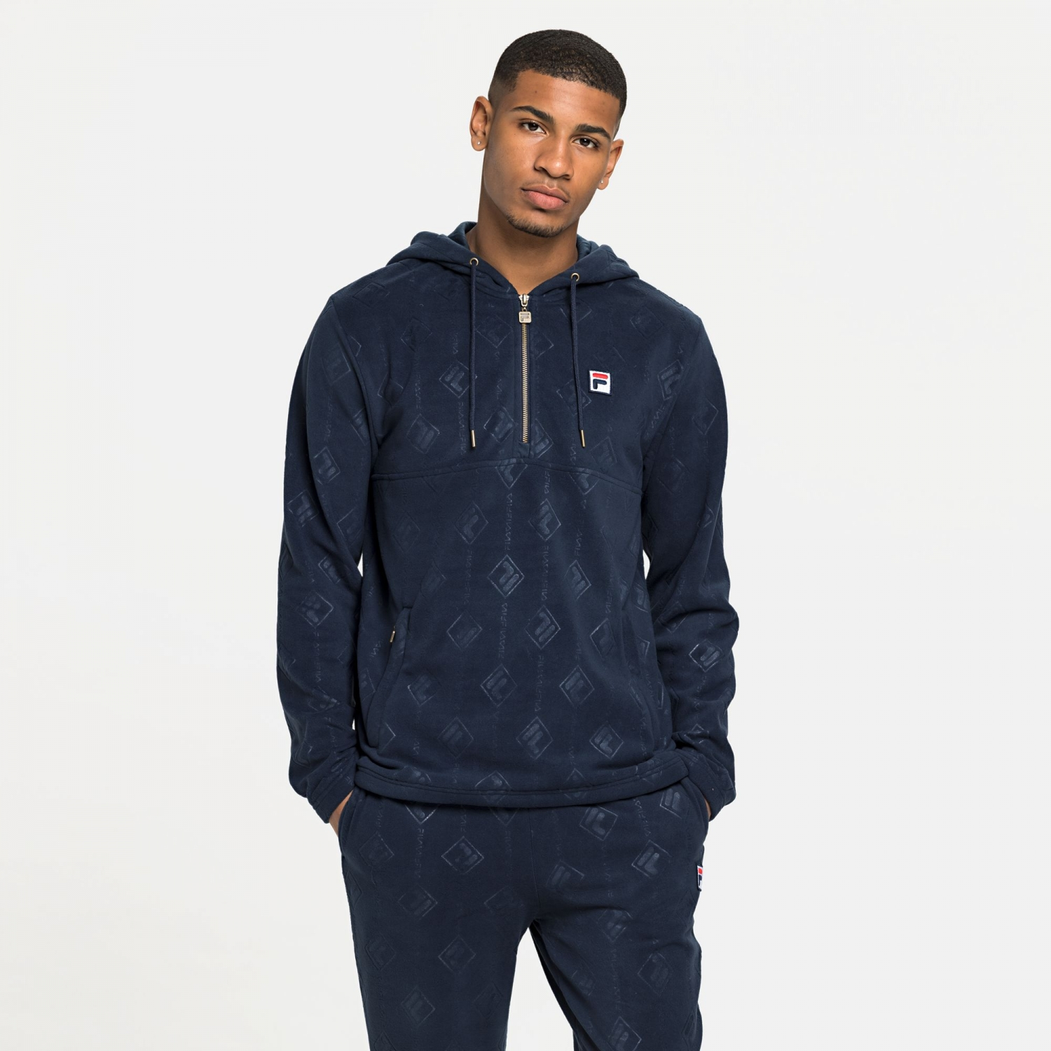 Fila Hastin Half Zip Fleece Hoody Bild 1