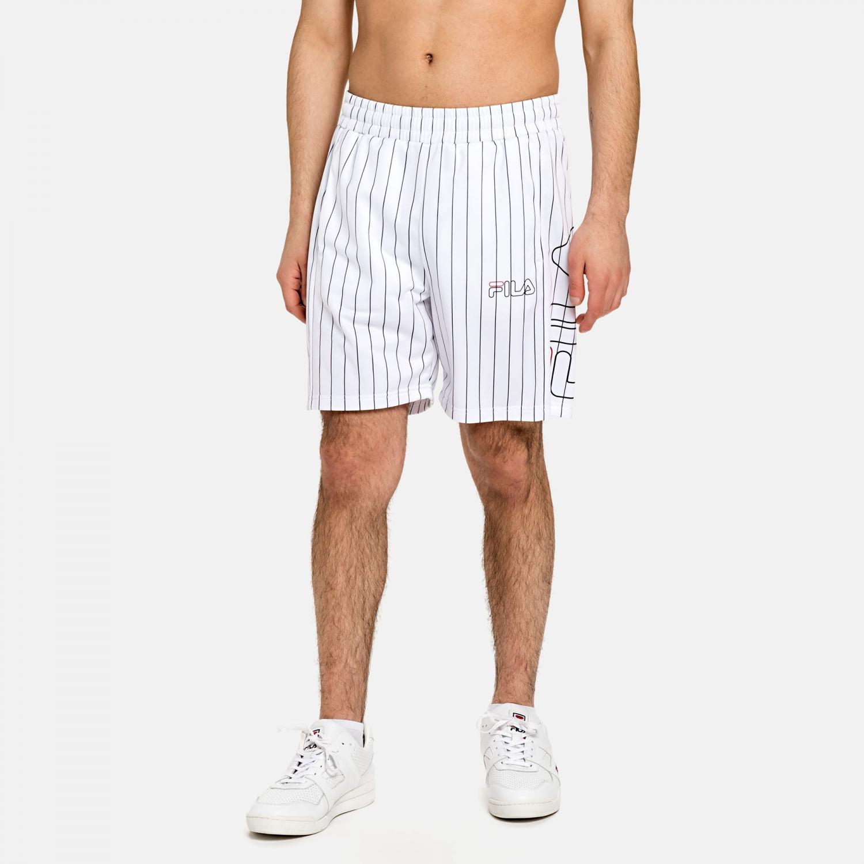 Fila Jani Striped Sporty Shorts white Bild 1