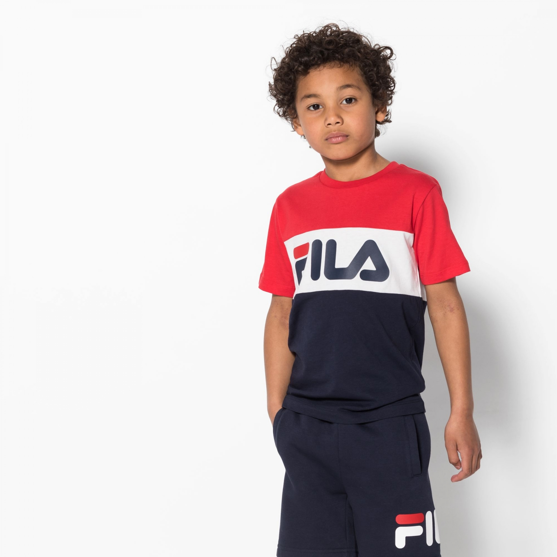 Fila Kids Classic Day Blocked Tee black-iris-red Bild 1