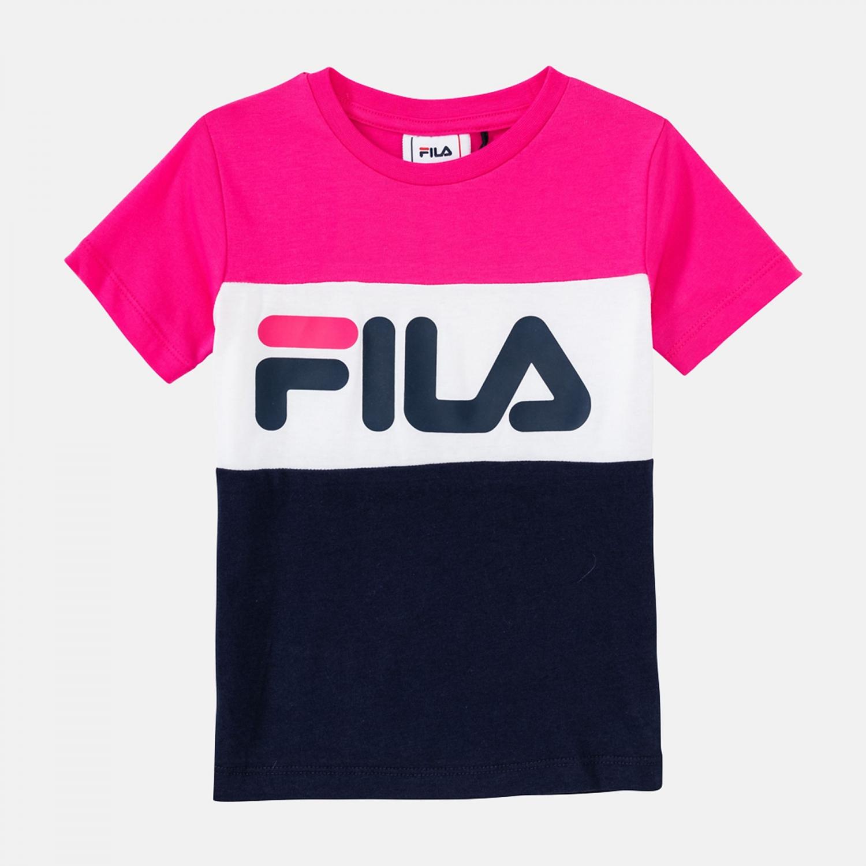 Fila Kids Classic Day Blocked Tee pink-yarrow-black-iris Bild 1