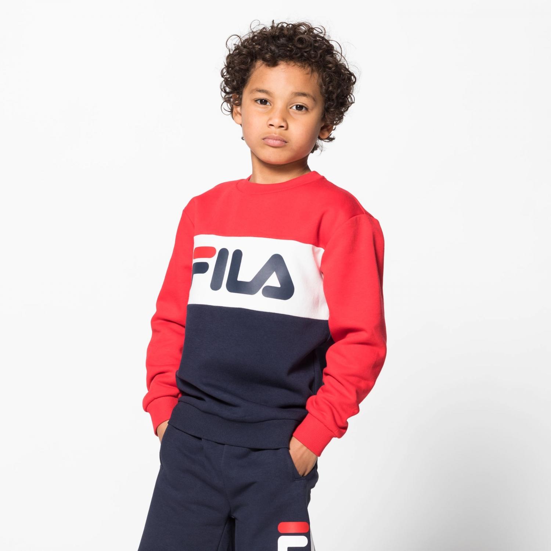 Fila Kids Night Blocked Crew black-iris-red Bild 1