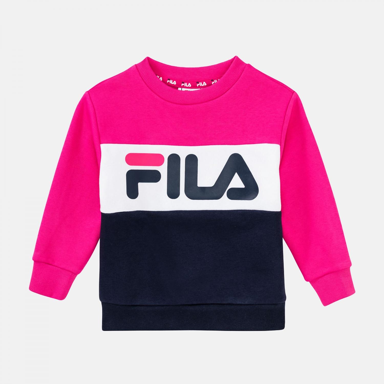 Fila Kids Night Blocked Crew black-iris-pink-yarrow Bild 1