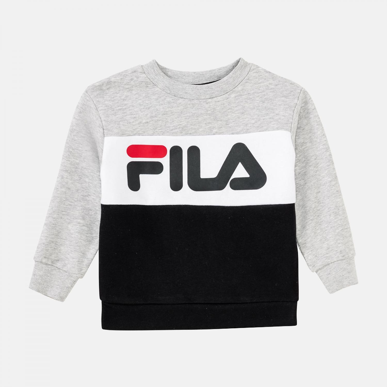 Fila Kids Night Blocked Crew Shirt lightgrey-melange-black Bild 1