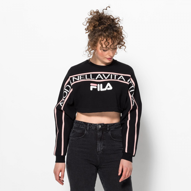 Fila Lucie Crop Raw Hem Sweatshirt black Bild 1