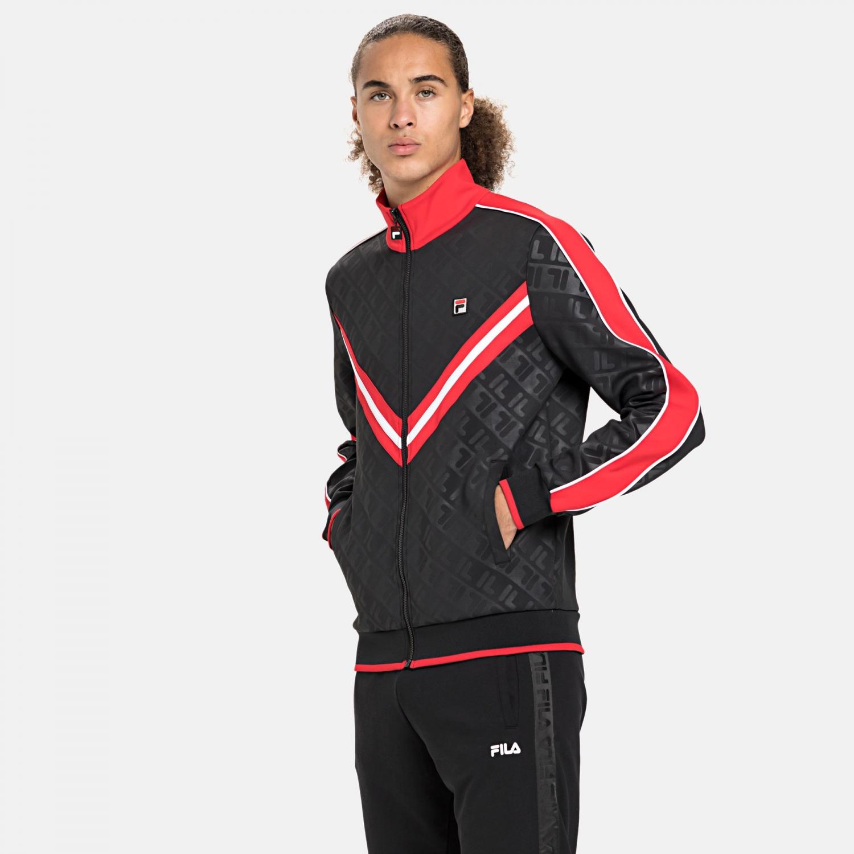 Fila Men Tauri Track Jacket black-true-red Bild 1