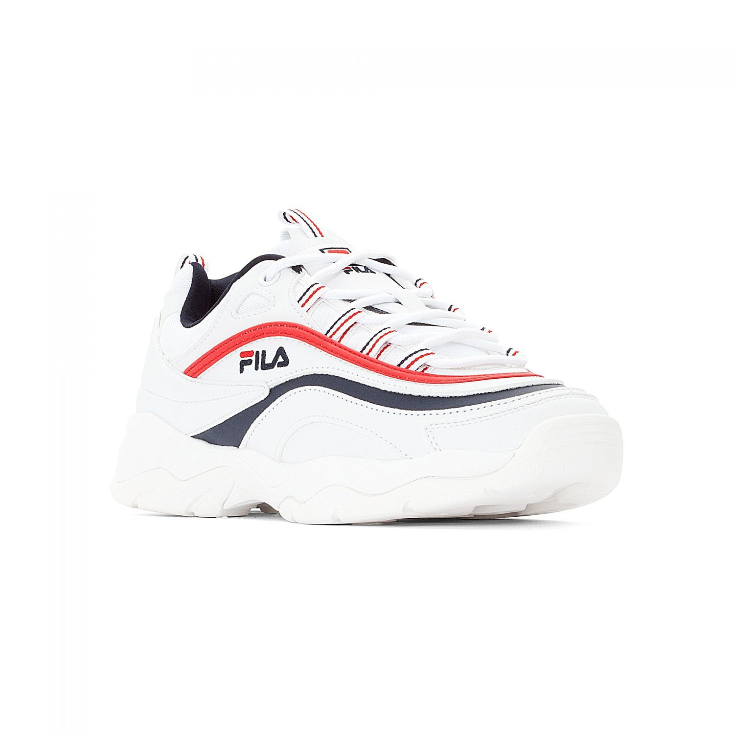 White Ray Red Fila Wmn BlueOfficial Navy Low 08OXwPkn