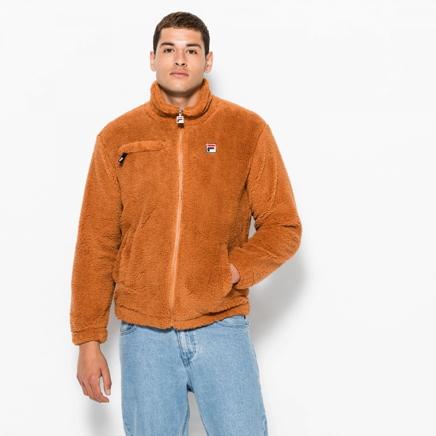 Fila Teddy High Funnel Neck Sherpa Zip Thru Bild 1