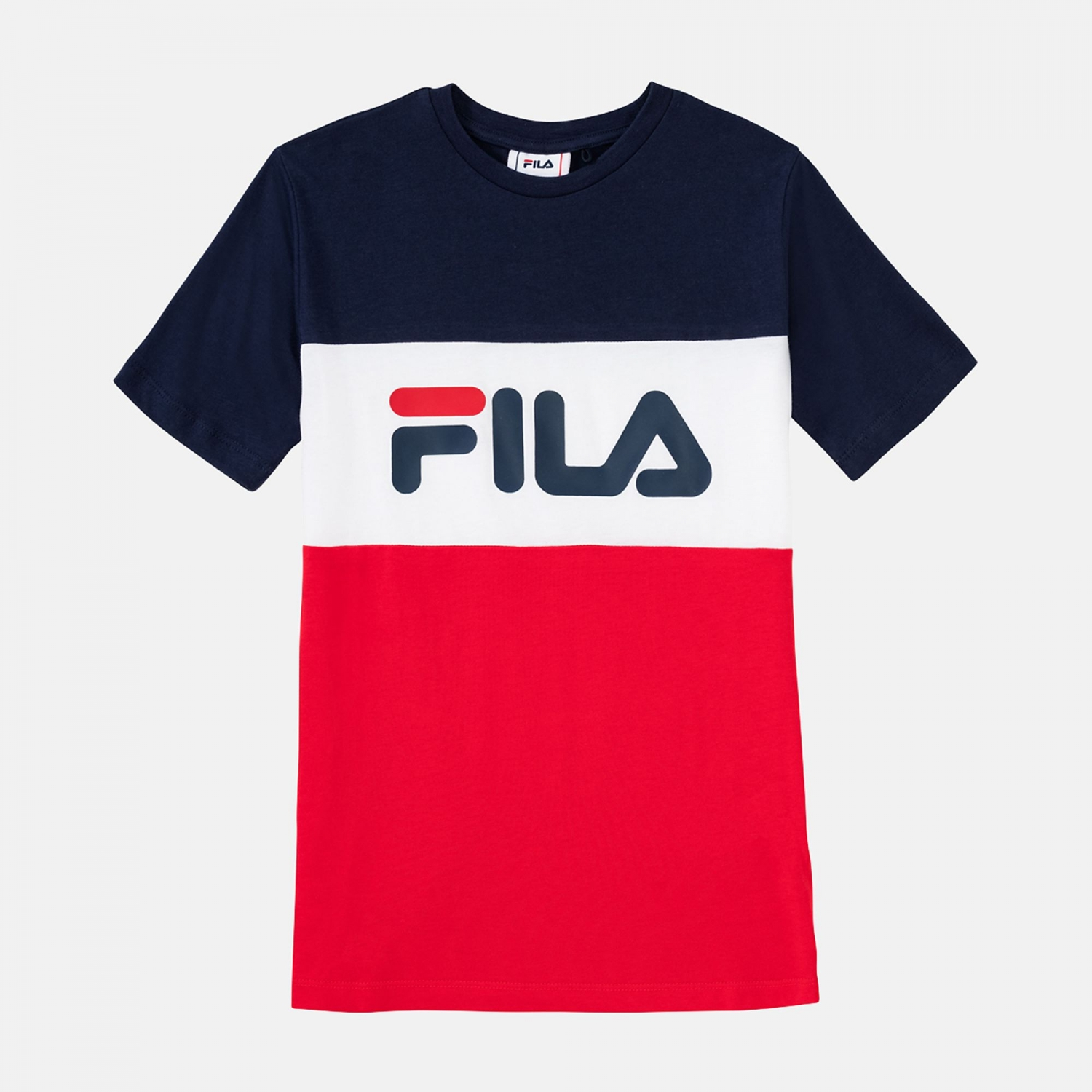 Fila Teens Classic Day Blocked Tee black-iris-red Bild 1
