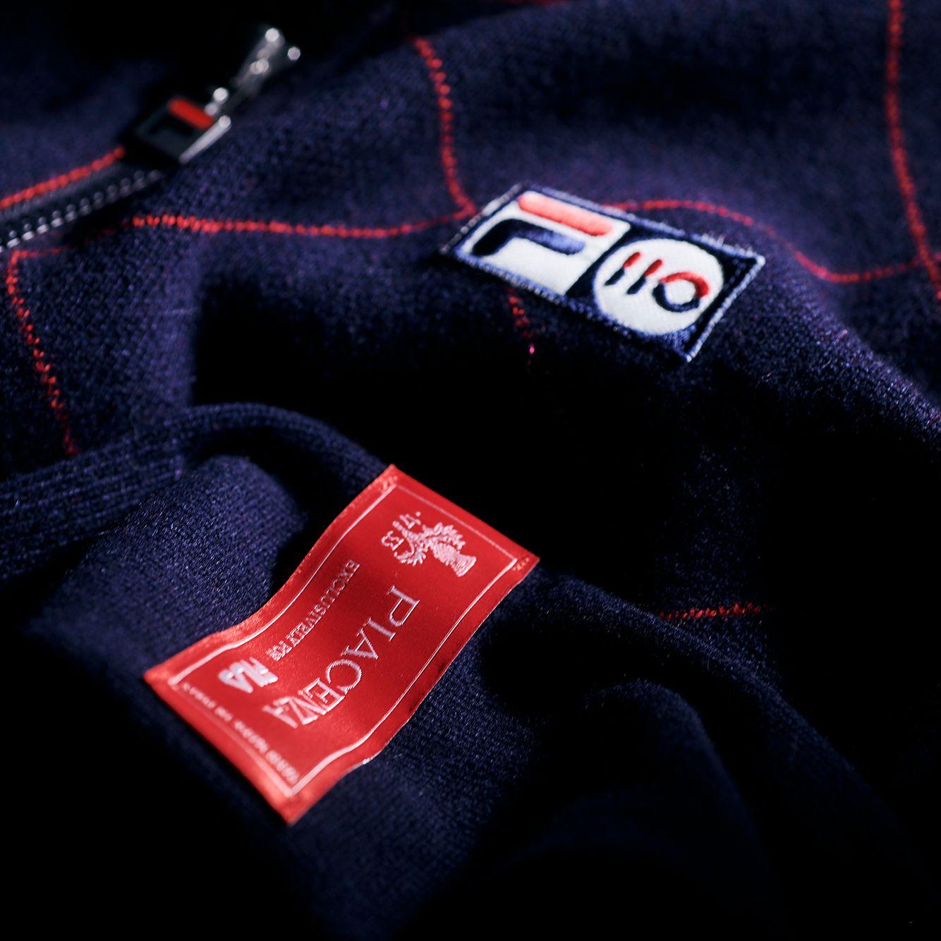 Fila Cashmere Argyle Full Zip Sweater Bild 2