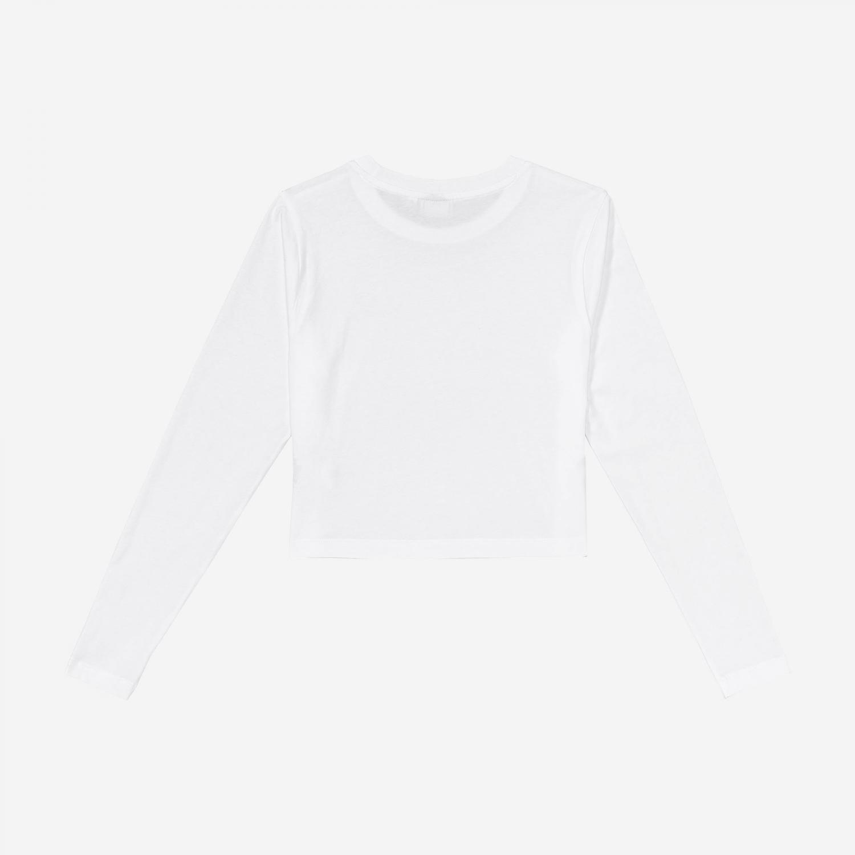 Fila Eaven Cropped Long Sleeve Shirt white Bild 2
