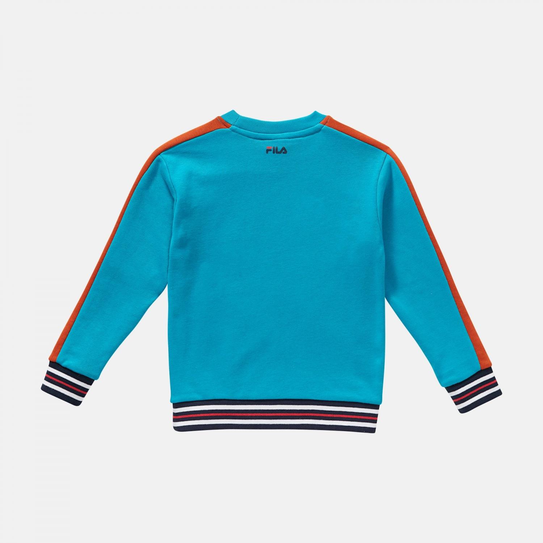 Fila Kids Alessio Logo Crew Shirt blue-orange Bild 2