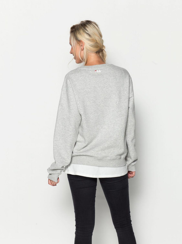 fila kriss sweater unisex 00014201375357 grau fila. Black Bedroom Furniture Sets. Home Design Ideas