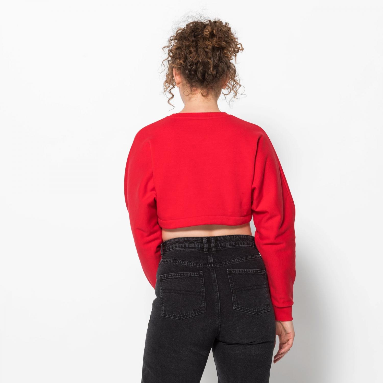 Fila Lucie Crop Raw Hem Sweatshirt red Bild 2