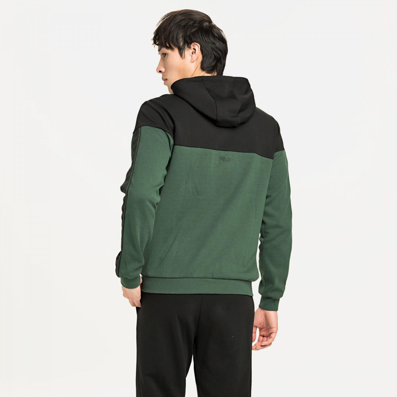 Fila Men Ole Hooded Jacket sycamore-black Bild 2
