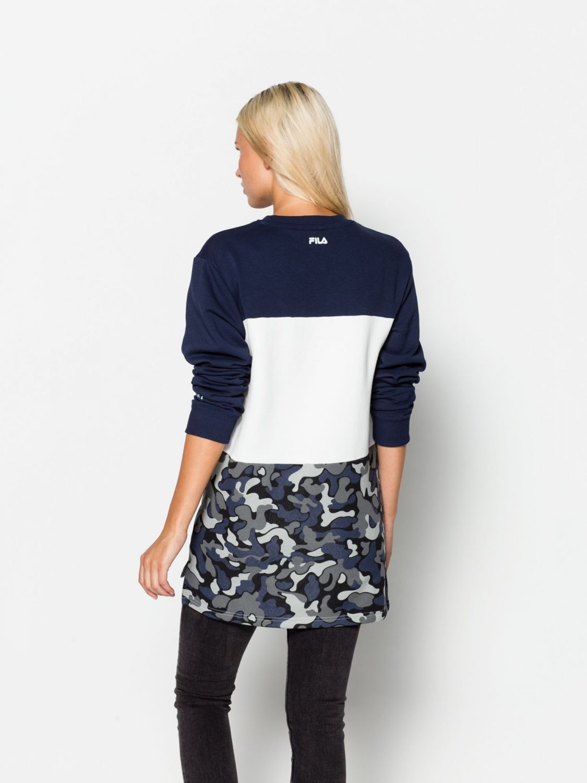 fila nic sweater unisex 00014201375192 blau fila. Black Bedroom Furniture Sets. Home Design Ideas