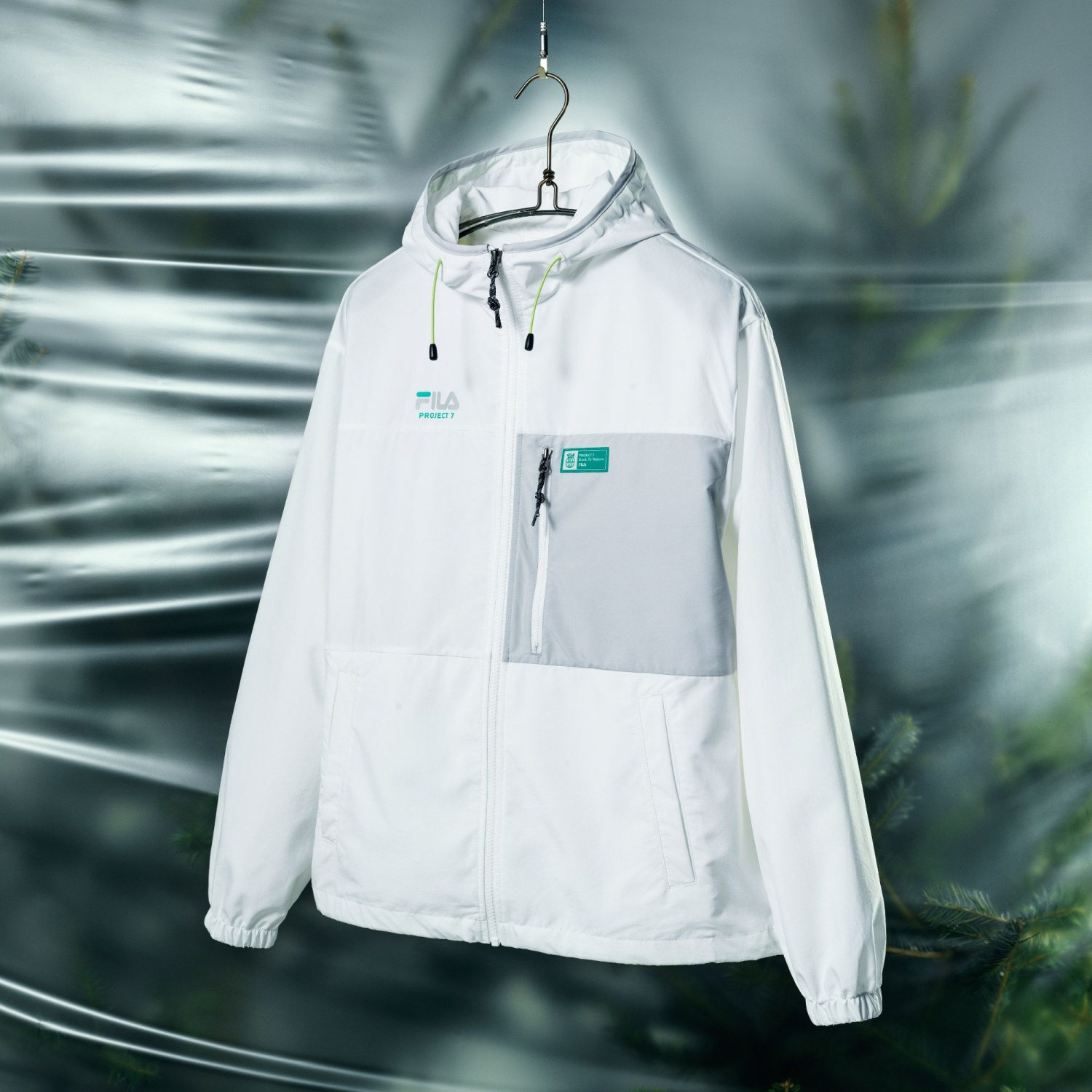Fila Project 7 Packable Anorak offwhite Bild 2