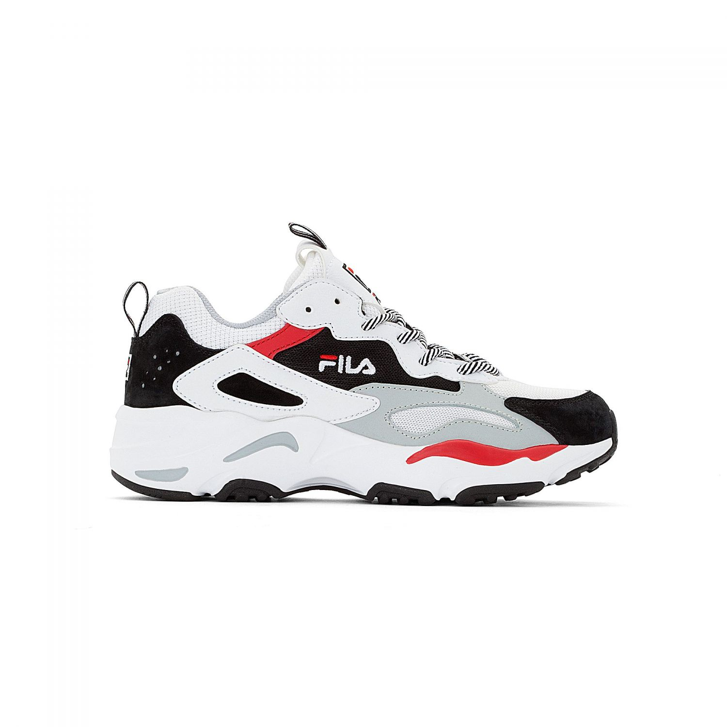 Fila Ray Tracer Wmn White Black High Rise Grey Fila