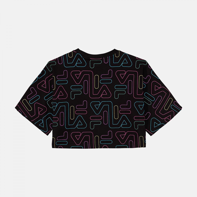 Fila Teens Girls Samia AOP Wide Cropped Shirt Bild 2