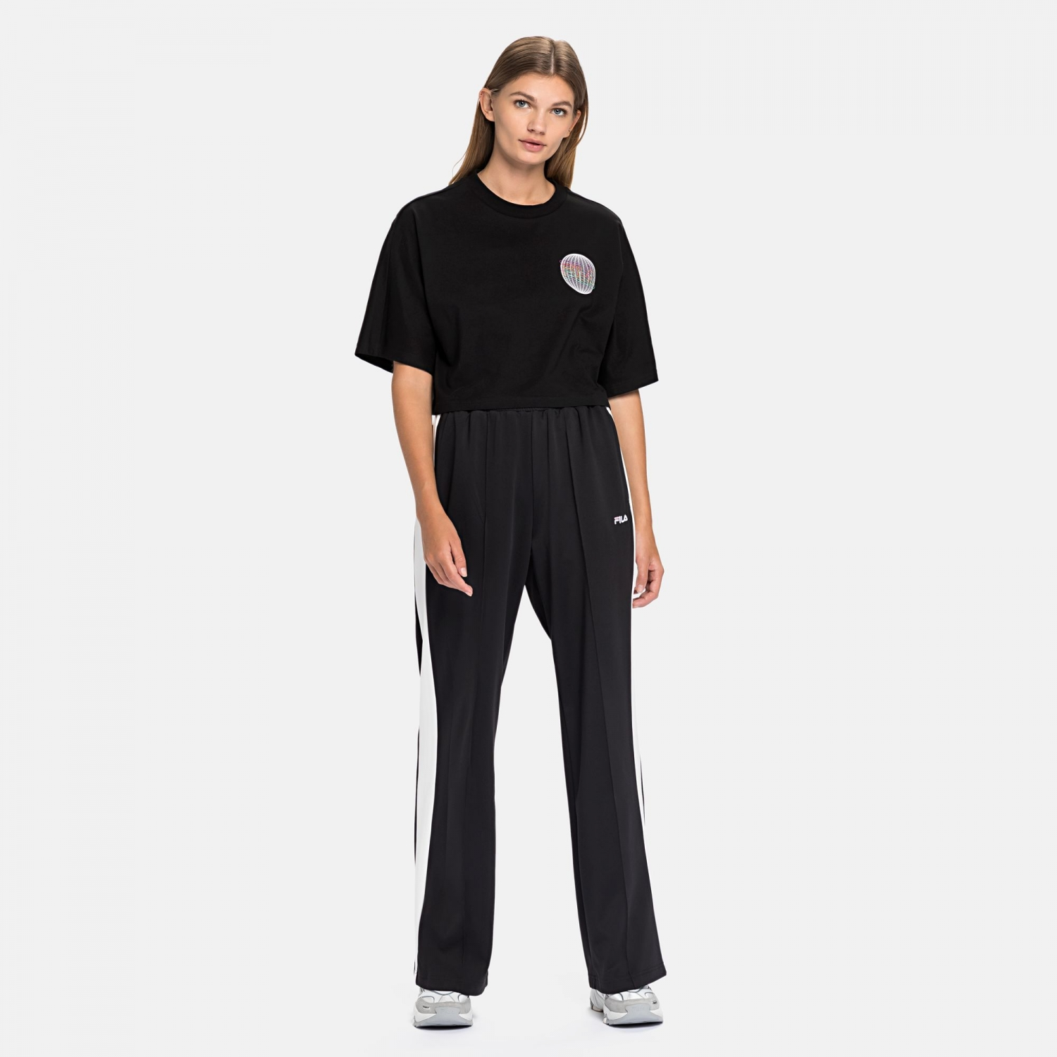 Fila Anemore Cropped Wide Tee black Bild 3