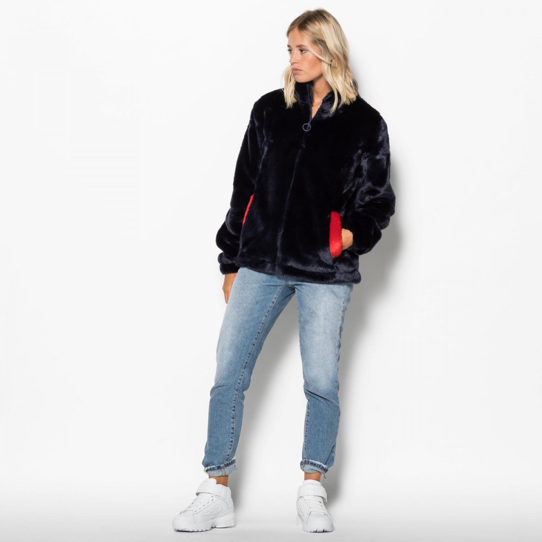 88d6de2c Arianna High Neck Fur Jacket