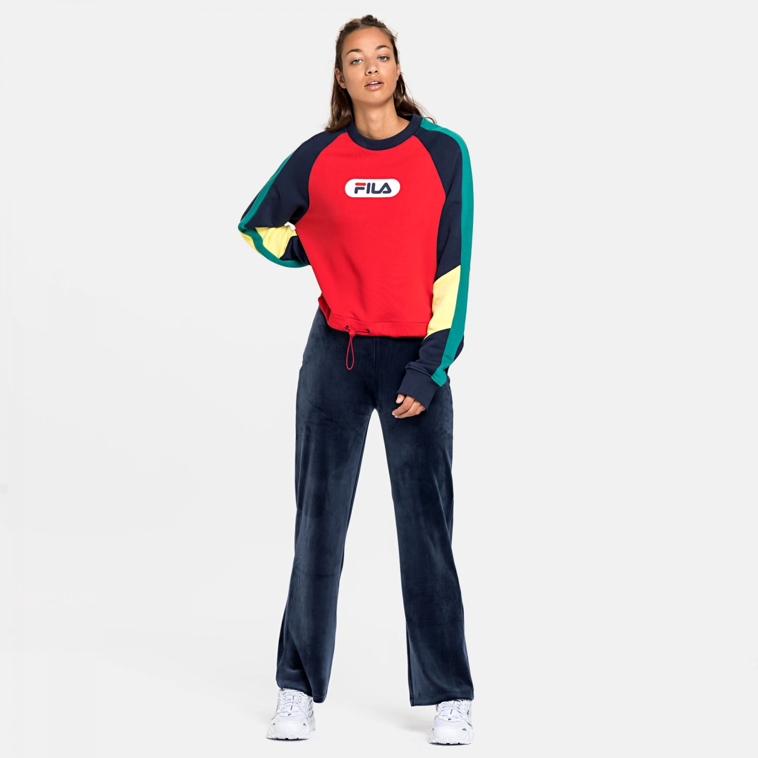 Fila Bane Blocked Crewsweat red Bild 3